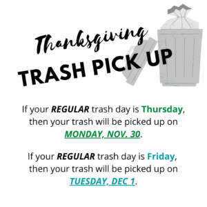 white pine tn thanksgiving trash pick up
